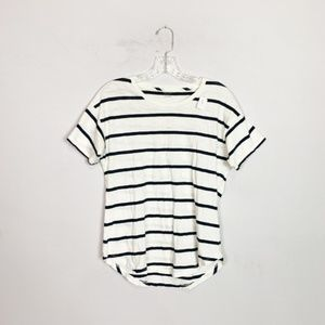 Madewell navy & white striped short sleeve tee M